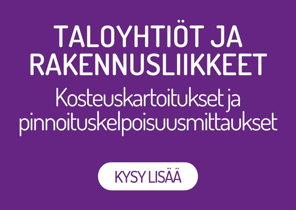 Oulun Kosteustutkimus Oy hoitaa kosteuskartoitukset sekä pinnoituskelpoisuusmittaukset taloyhtiöille sekä rakennusliikkeille. Kysy lisää!