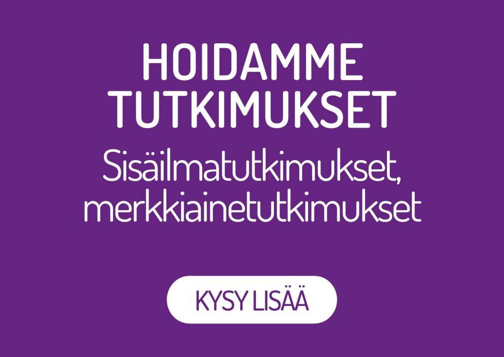 Oulun Kosteustutkimus Oy hoitaa sisäilmatutkimukset sekä merkkiainetutkimukset kaikille tarpeeseen. Kysy lisää!